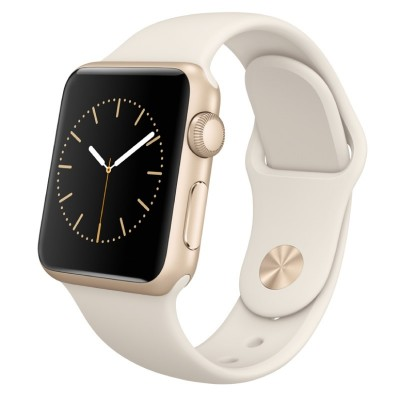 Apple Watch Sport Smart Watch (38 mm aluminum metal case with a gold antique white sport strap MLCJ2CH / A)