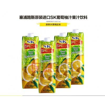 Cyprus SK brand of natural grapefruit juice (grapefruit juice) 1L * 12 boxes